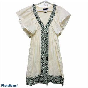 Antik Batik Beaded Cream Dress